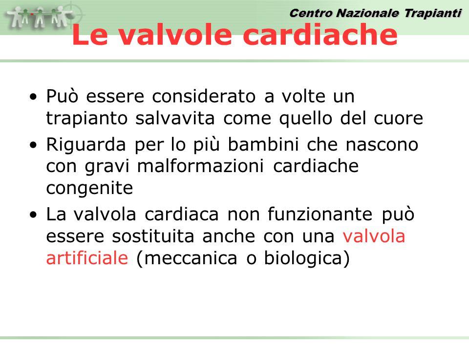 Centro Nazionale Trapianti Le valvole cardiache Può essere considerato a volte un trapianto salvavita come quello del cuore Riguarda per lo più bambin