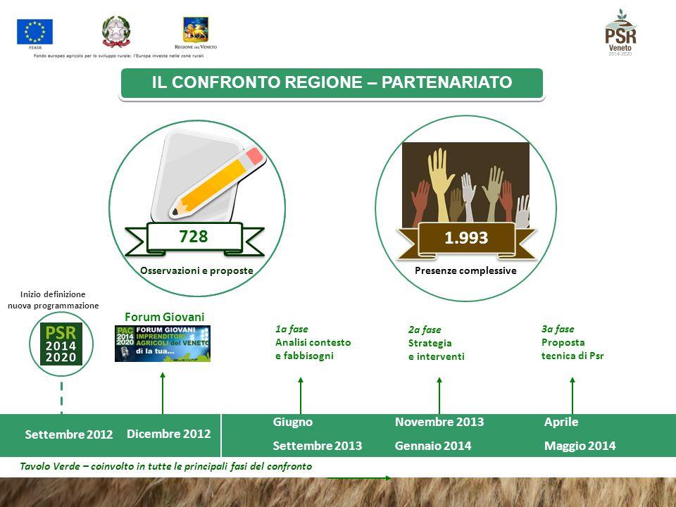 Dicembre 2012 Forum Giovani Giugno Settembre 2013 Inizio definizione nuova programmazione 1a fase Analisi contesto e fabbisogni Settembre 2012 Novembr