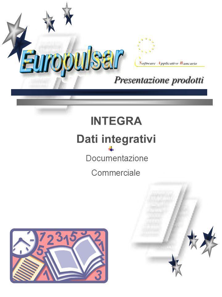 INTEGRA Dati integrativi Documentazione Commerciale Presentazione prodotti