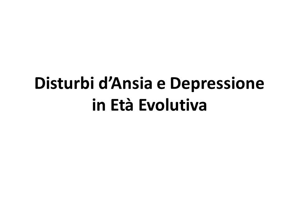 Disturbi della sfera affettiva I disturbi della sfera affettiva nascono in prevalenza da una alterazione del vissuto emozionale e/o da una distorsione delle normali tappe evolutive dello sviluppo affettivo.