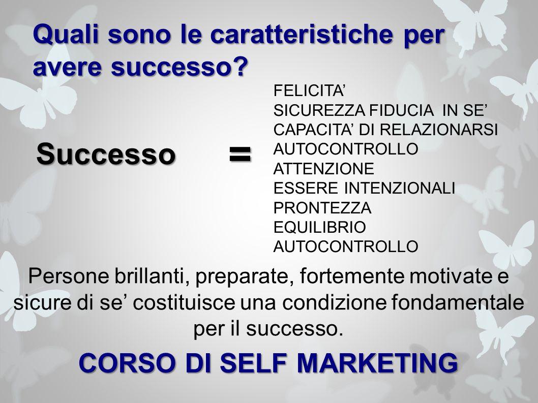 Quali sono le caratteristiche per avere successo.