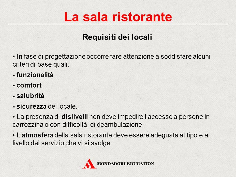La sala ristorante La struttura del reparto La cucina è il reparto di produzione, la sala ristorante è il reparto di distribuzione.
