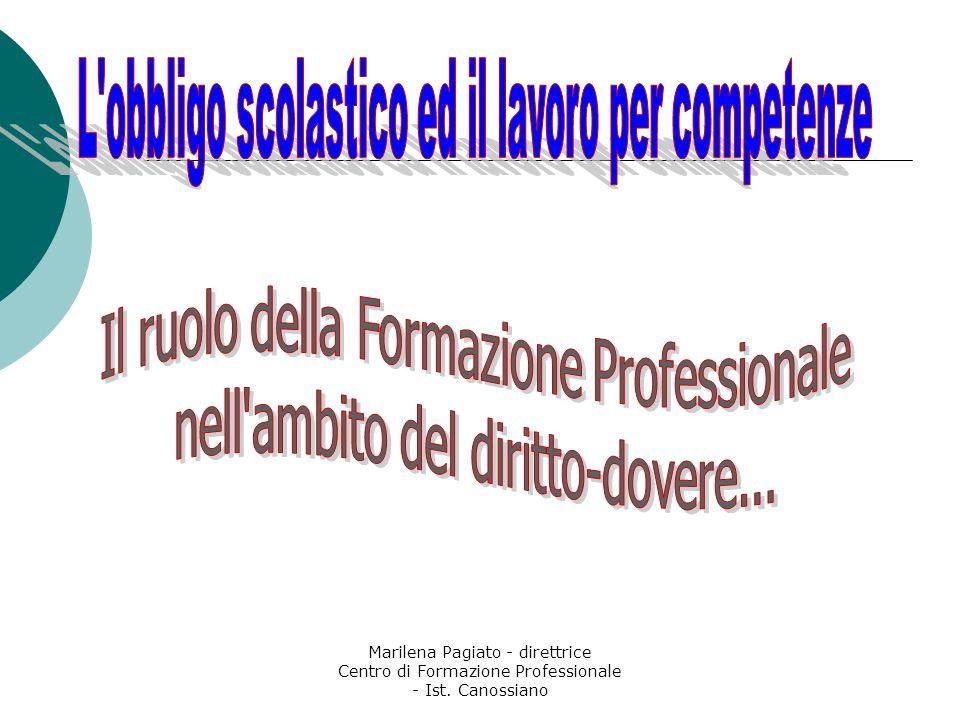 Marilena Pagiato - direttrice Centro di Formazione Professionale - Ist. Canossiano