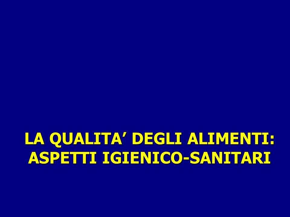 LA QUALITA' DEGLI ALIMENTI: ASPETTI IGIENICO-SANITARI