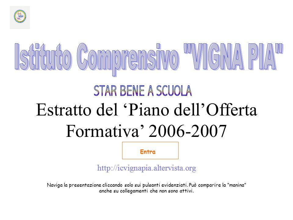 Estratto del 'Piano dell'Offerta Formativa' 2006-2007 http://icvignapia.altervista.org Naviga la presentazione cliccando solo sui pulsanti evidenziati