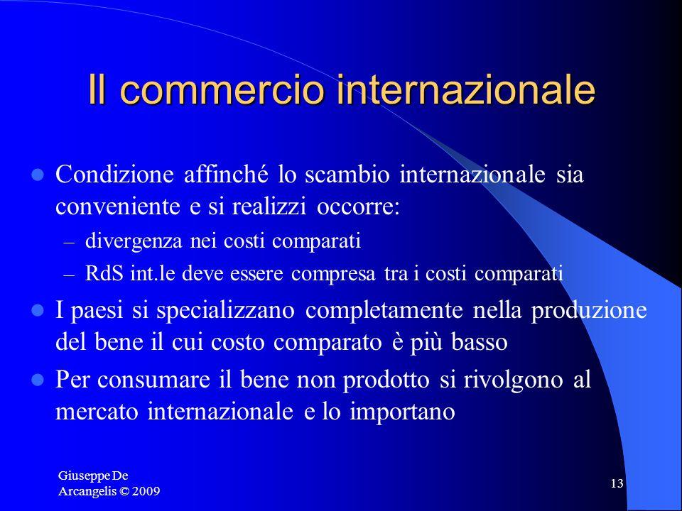 Giuseppe De Arcangelis © 2009 12 L'importanza della RdS int.le Se sul mercato int.le: 1 microchip=2 t-shirt Le due alternative in India per procurarsi