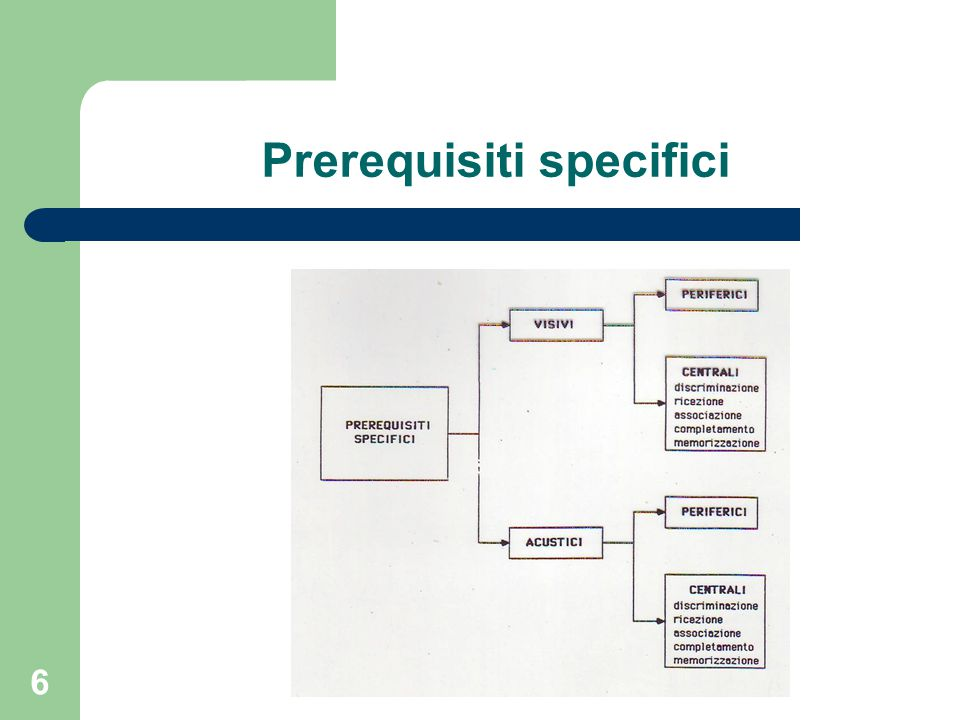 Prerequisiti specifici 6