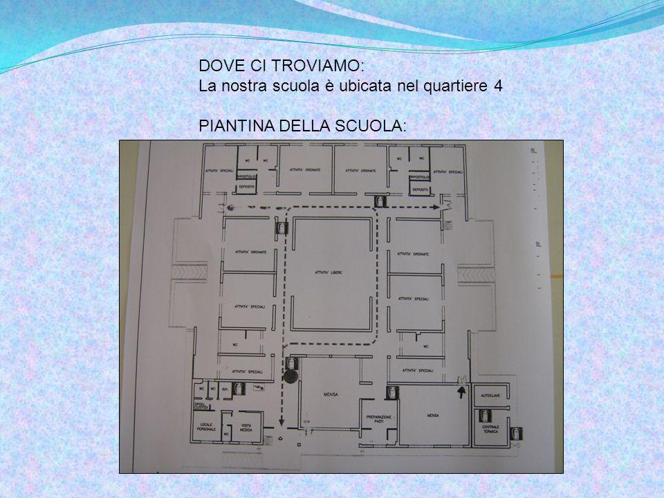 DOVE CI TROVIAMO: La nostra scuola è ubicata nel quartiere 4 PIANTINA DELLA SCUOLA: