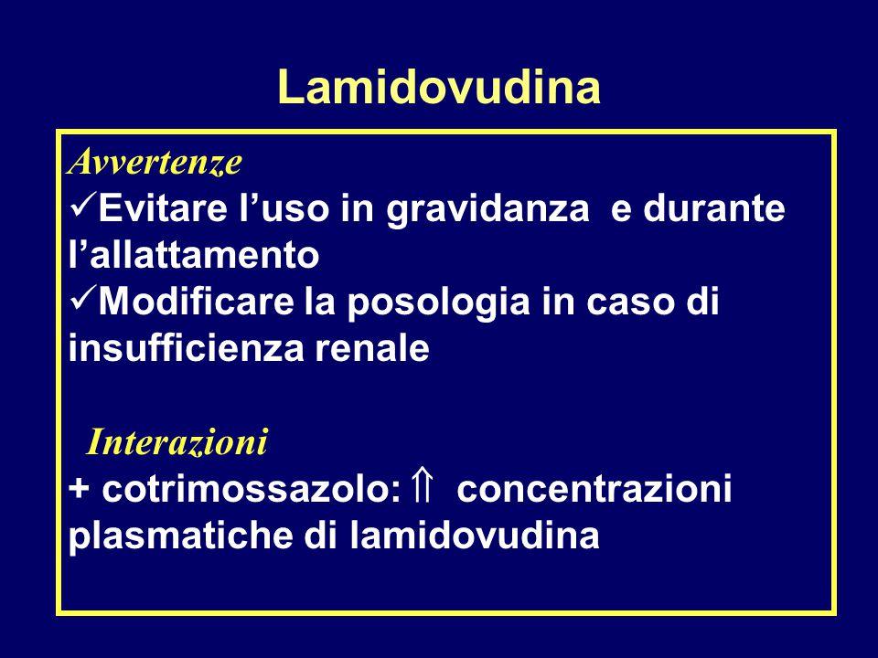 Avvertenze Evitare l'uso in gravidanza e durante l'allattamento Modificare la posologia in caso di insufficienza renale Interazioni + cotrimossazolo: