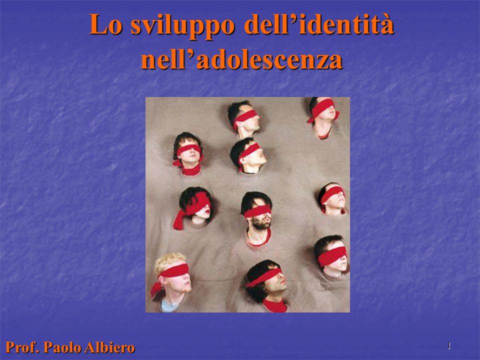 1 Lo sviluppo dell'identità nell'adolescenza Prof. Paolo Albiero