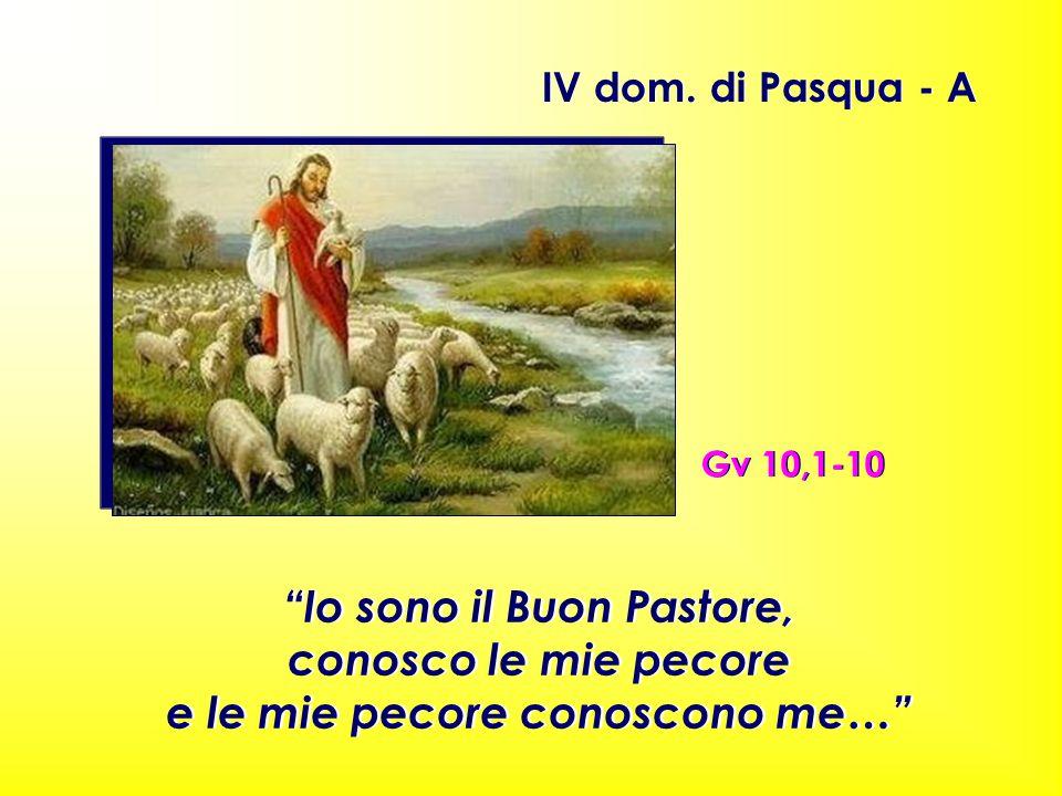 """Gv 10,1-10 IV dom. di Pasqua - A """"Io sono il Buon Pastore, conosco le mie pecore e le mie pecore conoscono me…"""" """"Io sono il Buon Pastore, conosco le m"""