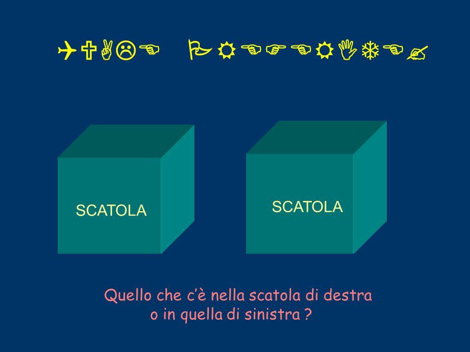 QUALE PREFERITE? SCATOLA Quello che c'è nella scatola di destra o in quella di sinistra ?