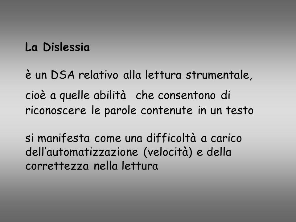 La Dislessia è un DSA relativo alla lettura strumentale, cioè a quelle abilità che consentono di riconoscere le parole contenute in un testo si manife