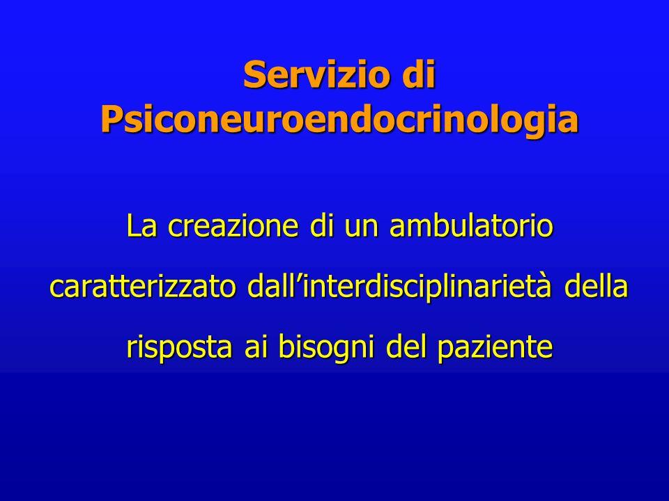 La creazione di un ambulatorio caratterizzato dall'interdisciplinarietà della risposta ai bisogni del paziente Servizio di Psiconeuroendocrinologia