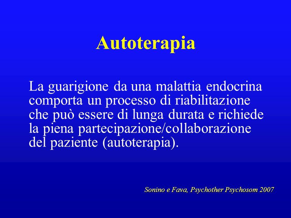 Autoterapia La guarigione da una malattia endocrina comporta un processo di riabilitazione che può essere di lunga durata e richiede la piena partecip