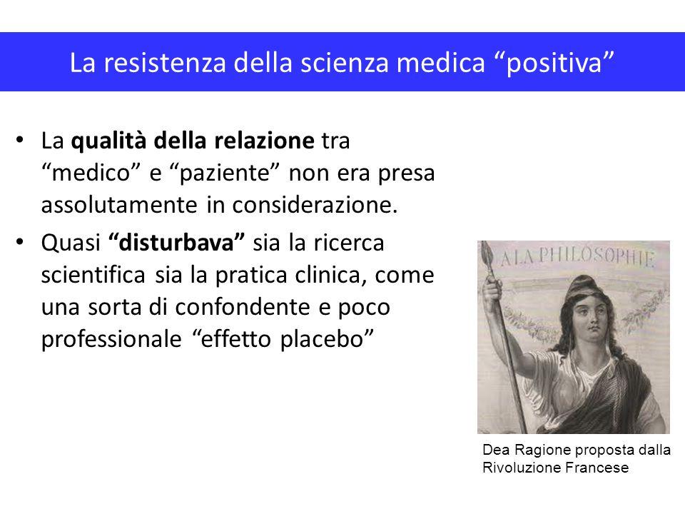 """La resistenza della scienza medica """"positiva"""" La qualità della relazione tra """"medico"""" e """"paziente"""" non era presa assolutamente in considerazione. Quas"""