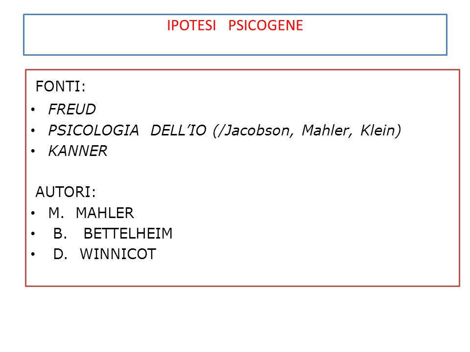 STRUMENTI DIAGNOSTICI TEST DIAGNOSTICO DELL'AUTISMO (adatt.