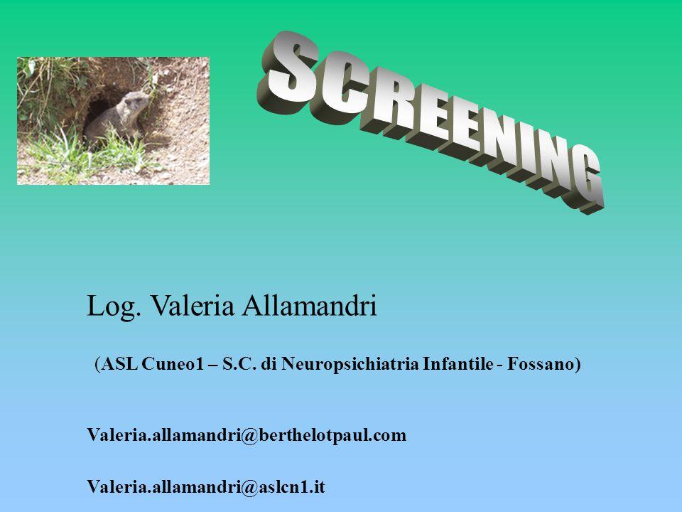 Log. Valeria Allamandri (ASL Cuneo1 – S.C.