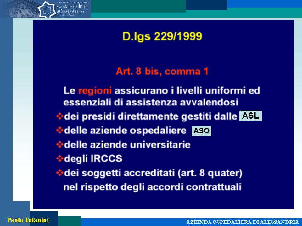 AZIENDA OSPEDALIERA DI ALESSANDRIA Paolo Tofanini ASL ASO