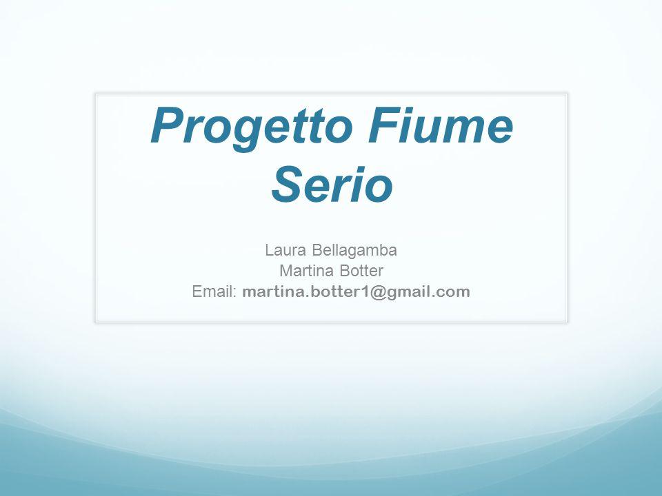 Progetto Fiume Serio Laura Bellagamba Martina Botter Email: martina.botter1@gmail.com