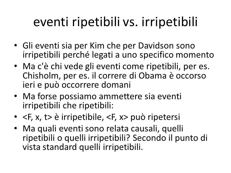 eventi ripetibili vs.