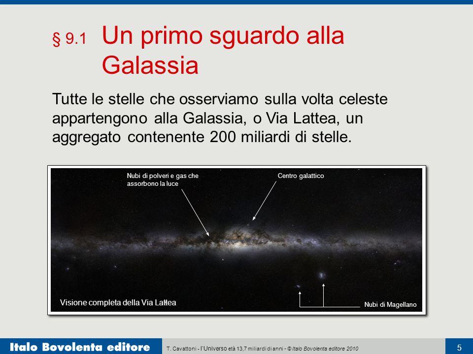 T. Cavattoni - l'Universo età 13,7 miliardi di anni - © Italo Bovolenta editore 2010 5 § 9.1 Un primo sguardo alla Galassia Tutte le stelle che osserv