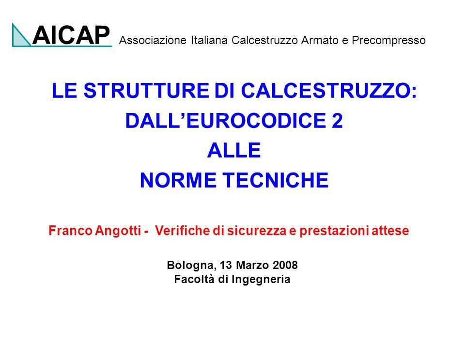 Facoltà di Ingegneria Università di Firenze Franco Angotti Bologna 13 Marzo 2008 32 ALTRE AZIONI  O  1  2 VENTO0,60,20,0 NEVE quota  1000 m0,50,20,0 NEVE quota > 1000 m0,70,50,2 VARIAZIONI TERMICHE0,60,50,0 COINCIDENTI CON I VALORI RACCOMANDATI EN1990