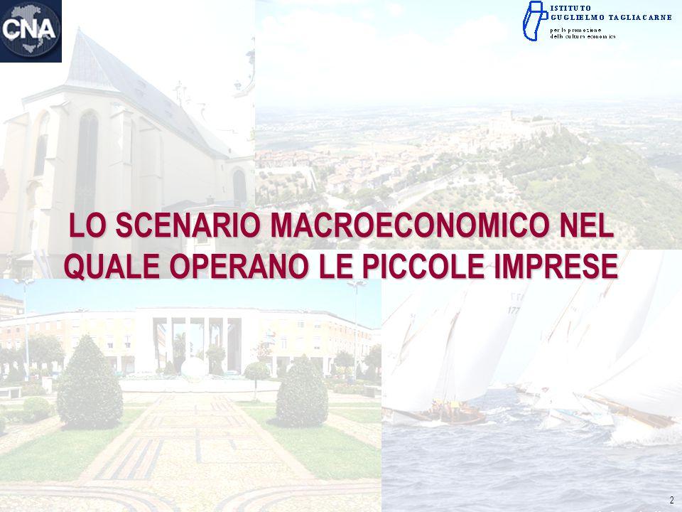 LO SCENARIO MACROECONOMICO NEL QUALE OPERANO LE PICCOLE IMPRESE 2