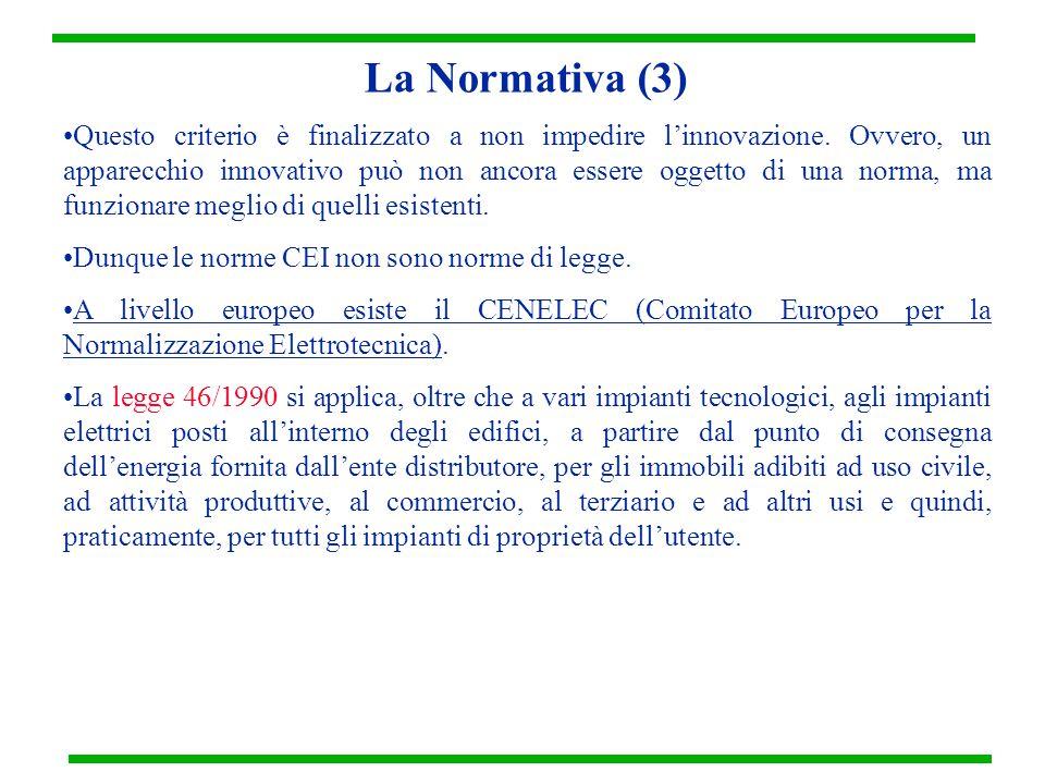La Normativa (3) Questo criterio è finalizzato a non impedire l'innovazione.