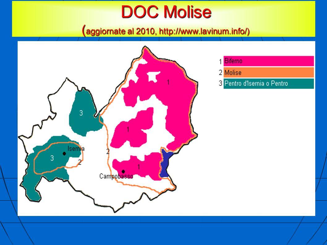 DOC Molise ( aggiornate al 2010, http://www.lavinum.info/) DOC Molise ( aggiornate al 2010, http://www.lavinum.info/)