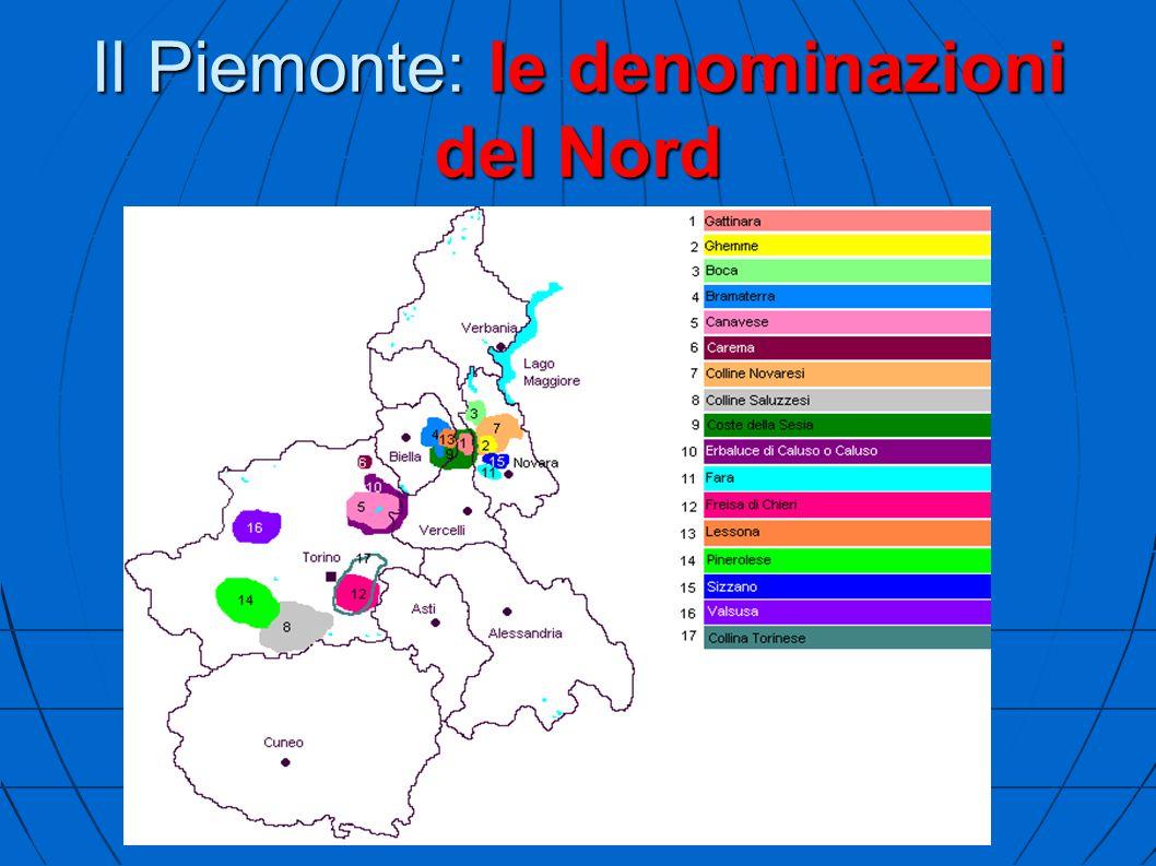 Il Piemonte: le denominazioni del Nord