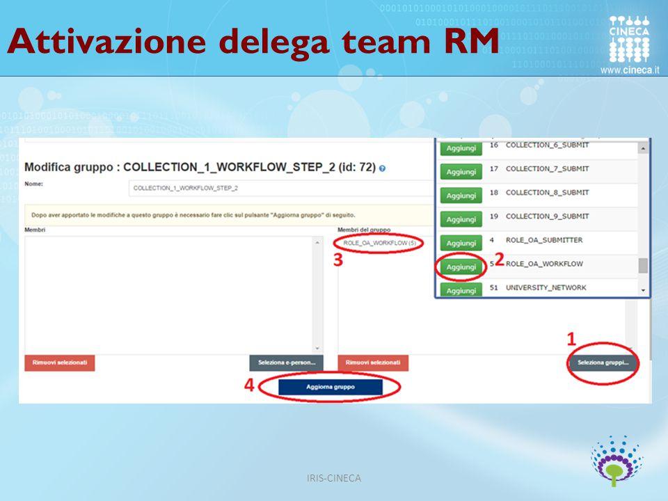 Attivazione delega team RM IRIS-CINECA