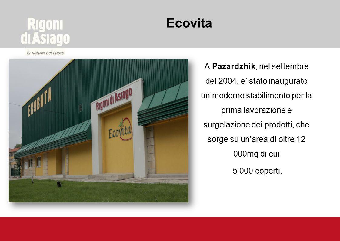 A Pazardzhik, nel settembre del 2004, e' stato inaugurato un moderno stabilimento per la prima lavorazione e surgelazione dei prodotti, che sorge su u