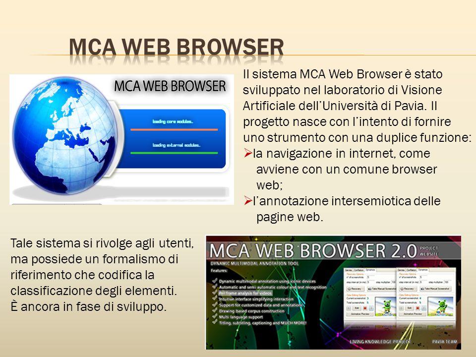 Il sistema MCA Web Browser è stato sviluppato nel laboratorio di Visione Artificiale dell'Università di Pavia.