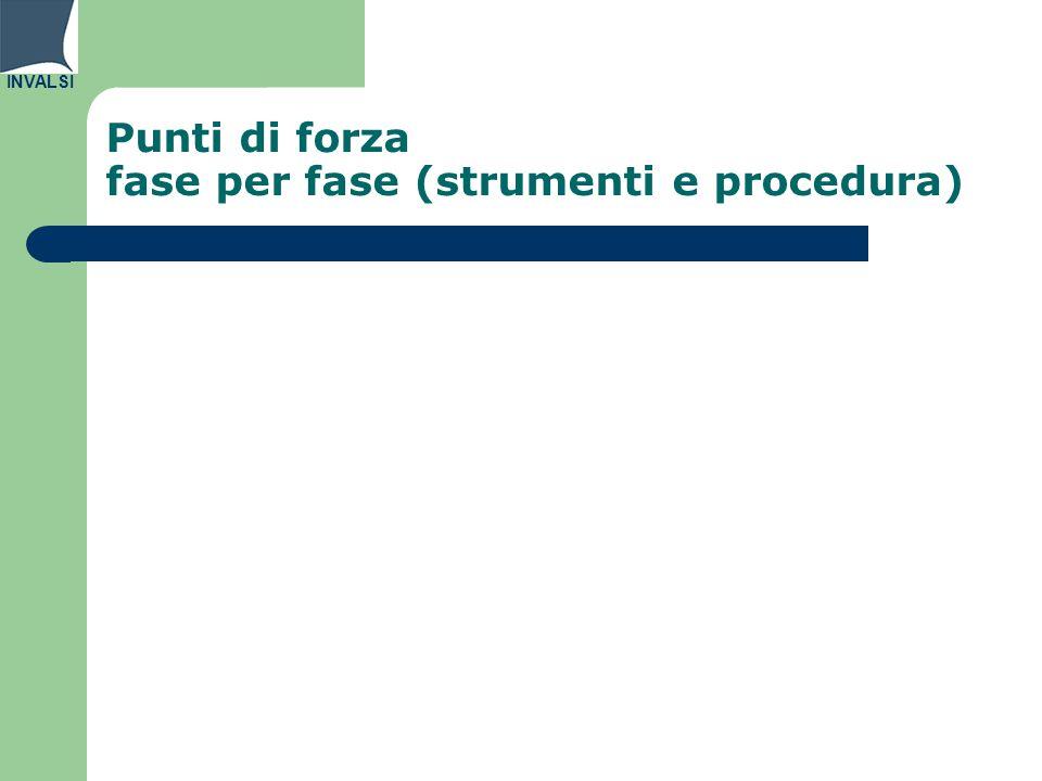 INVALSI Punti di forza fase per fase (strumenti e procedura)