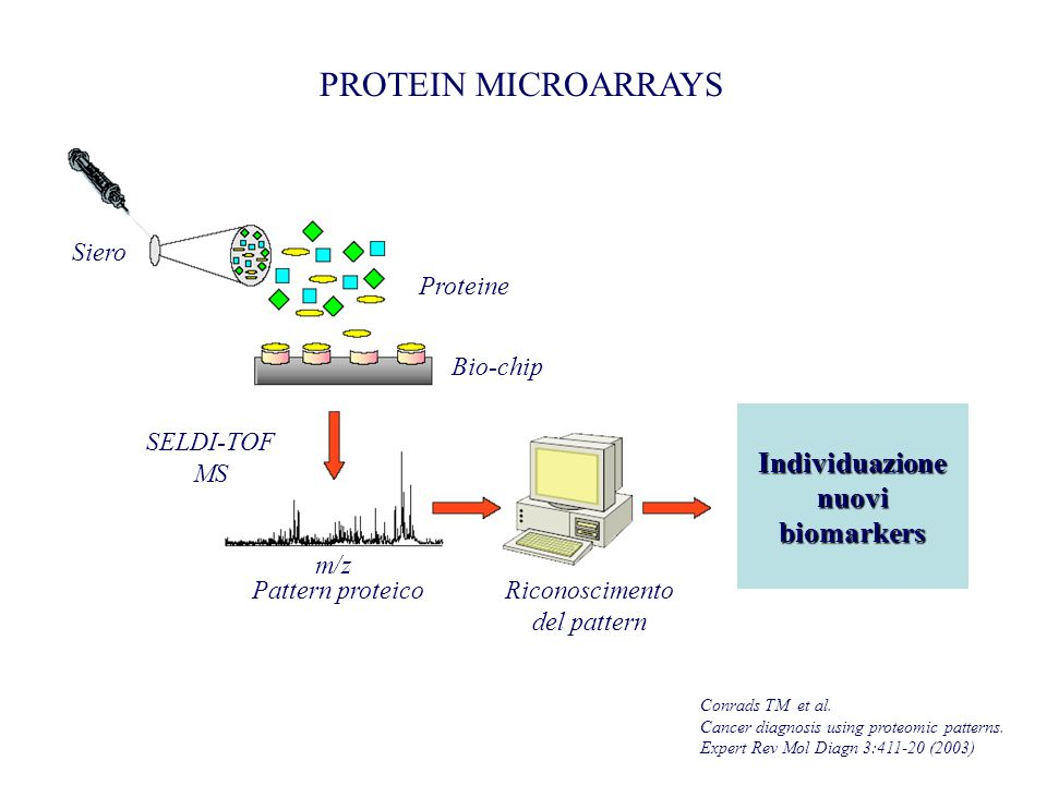 PROTEIN MICROARRAYS Conrads TM et al.Cancer diagnosis using proteomic patterns.