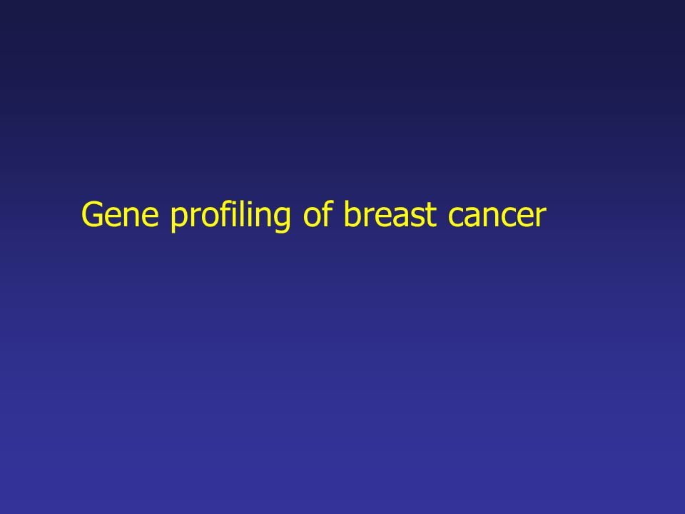 Gene profiling of breast cancer