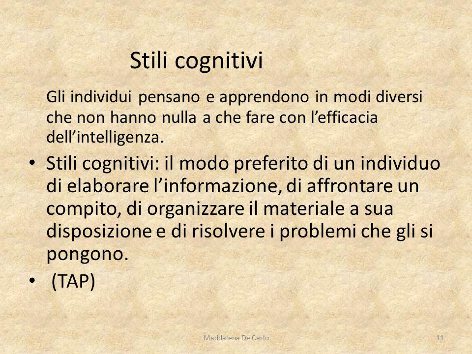 Gli individui pensano e apprendono in modi diversi che non hanno nulla a che fare con l'efficacia dell'intelligenza.