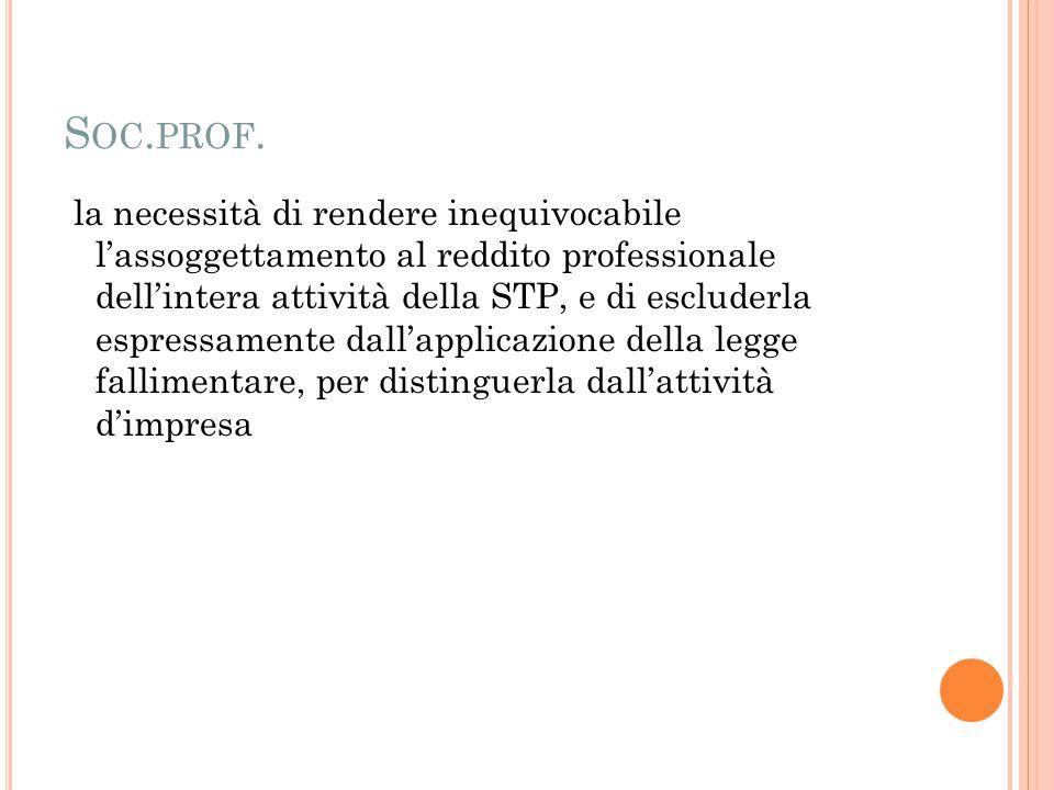 S OC. PROF.