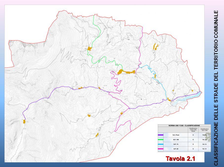 Tavola 2.1 CLASSIFICAZIONE DELLE STRADE DEL TERRITORIO COMUNALE Tavola 2.1