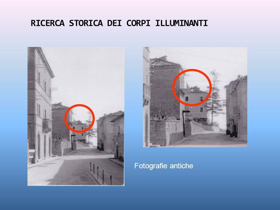 RICERCA STORICA DEI CORPI ILLUMINANTI Fotografie antiche