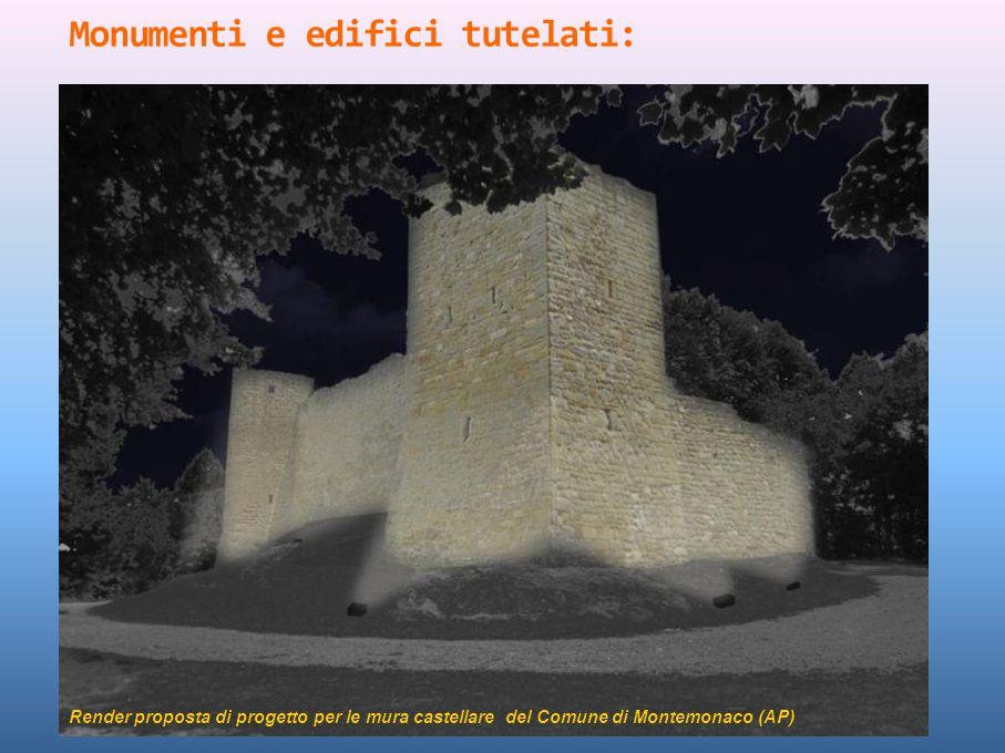 Render proposta di progetto per le mura castellare del Comune di Montemonaco (AP)