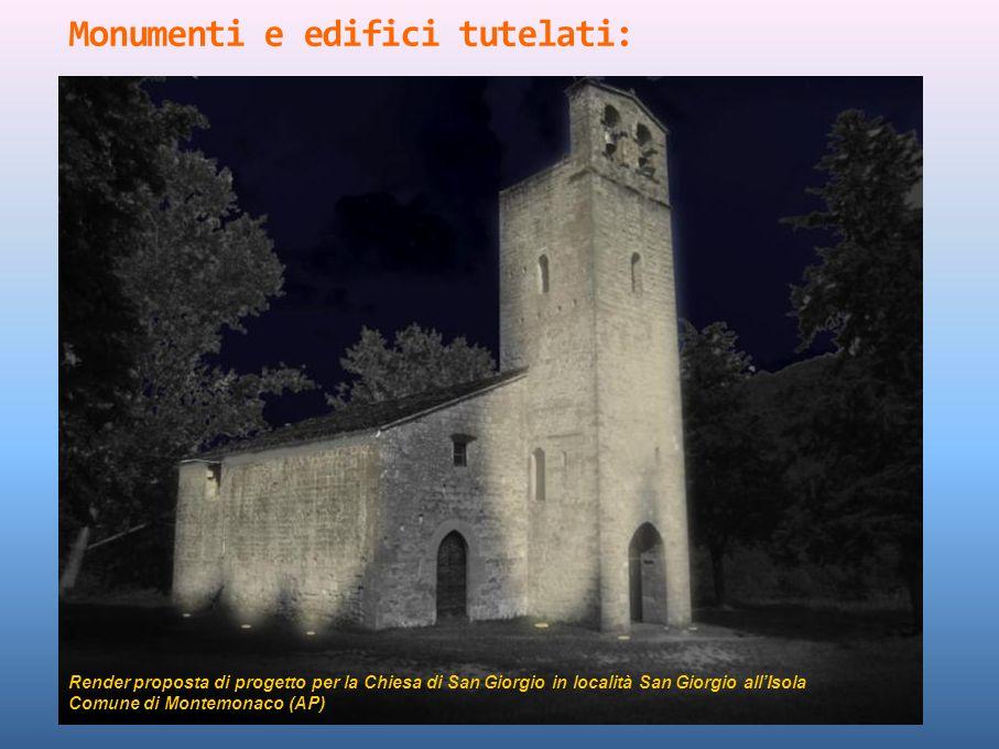 Monumenti e edifici tutelati: Render proposta di progetto per la Chiesa di San Giorgio in località San Giorgio all'Isola Comune di Montemonaco (AP)