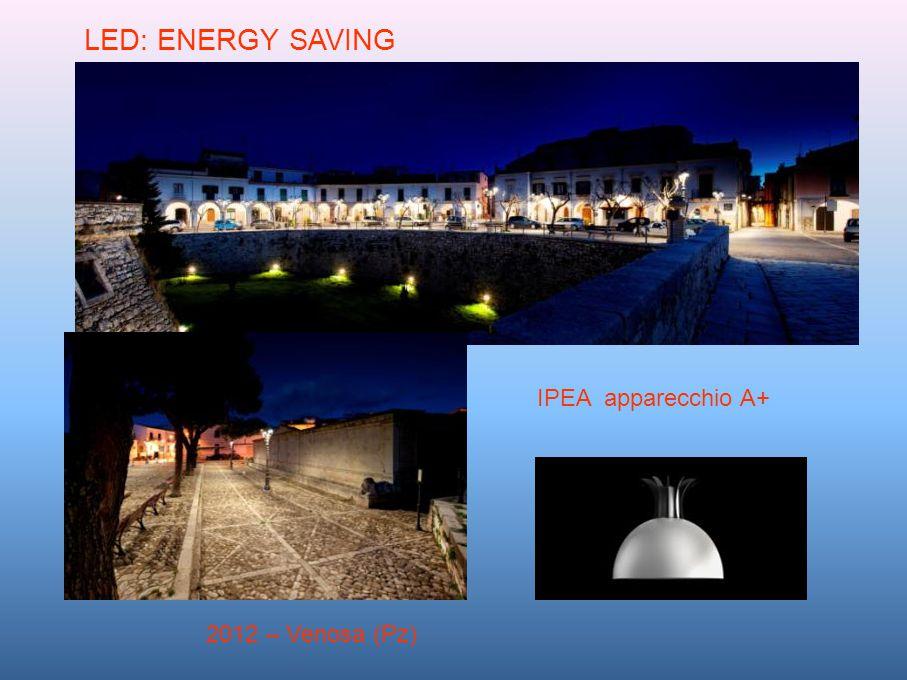 2012 – Venosa (Pz) LED: ENERGY SAVING IPEA apparecchio A+