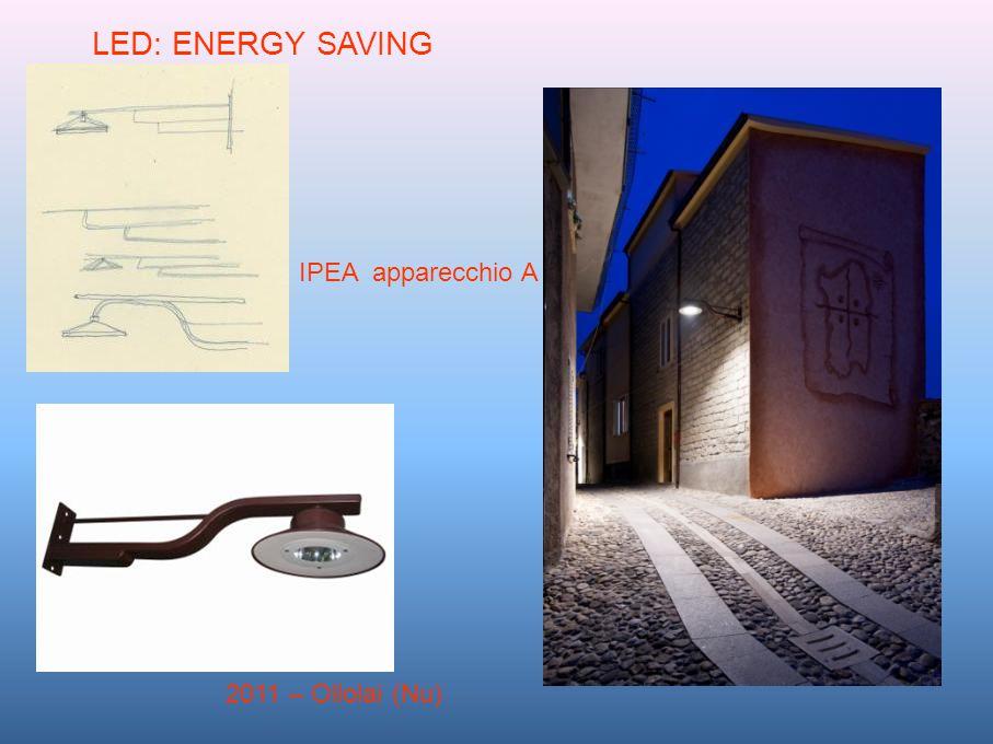 2011 – Ollolai (Nu) LED: ENERGY SAVING IPEA apparecchio A