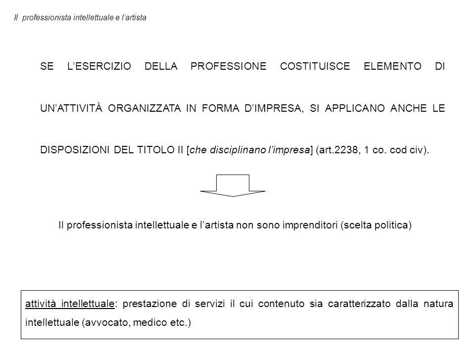 L'esercizio della professione intellettuale può essere: PROTETTO subordinato all'iscrizione in appositi albi o elenchi (art.