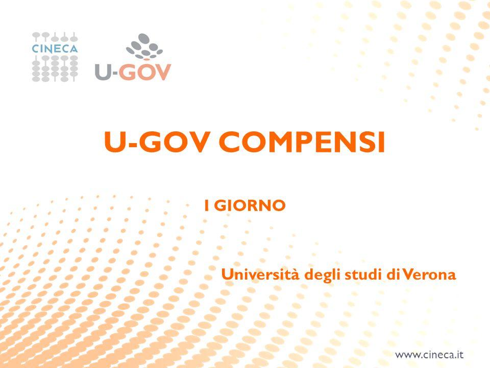 www.cineca.it U-GOV COMPENSI I GIORNO Università degli studi di Verona