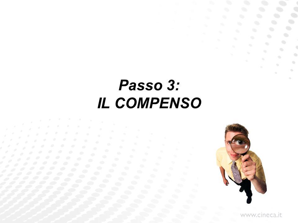 www.cineca.it Passo 3: IL COMPENSO