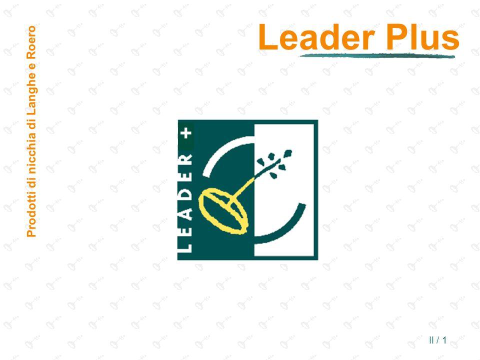 II / 1 + Leader Plus Prodotti di nicchia di Langhe e Roero
