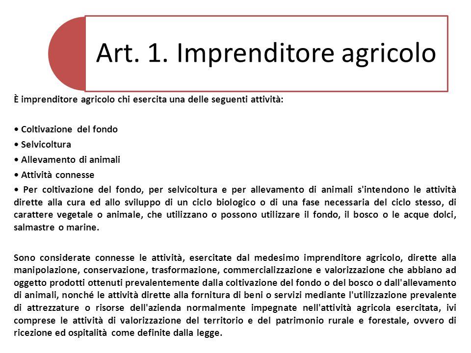 Art.2. Iscrizione al registro delle imprese 1.